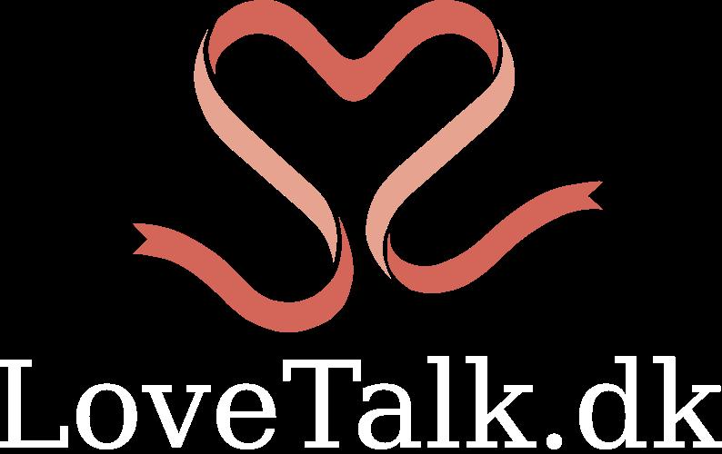 LoveTalk.dk logo hvid tekst